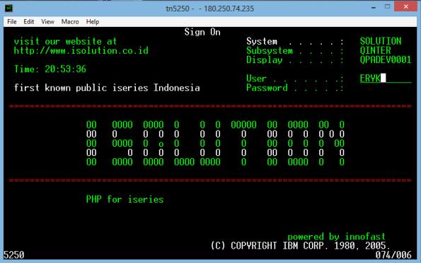 IBM i5/OS - Eryk Budi Pratama